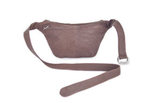 Minimal leather belt bag ANABELLE | Brown