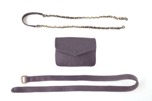 BAGSU design leather belt bag IMARA dark brown - complete view