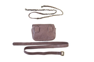BAGSU design leather belt bag IMARA brown - back view