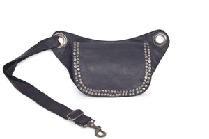 Fashion belt bag LENA with metallic studs | Black