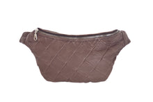 Designer leather belt bag MILA | Brown