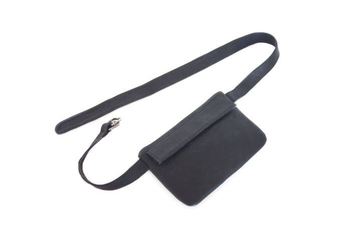 Small leather belt bag NINA | Black