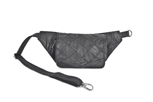 Designer leather belt bag POLA | Black