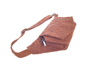 BAGSU design leather belt bag POLA camel - side view