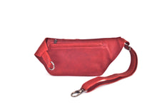 Designer leather belt bag POLA | Red