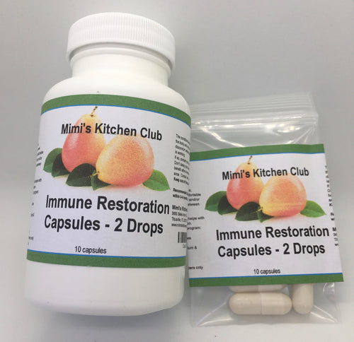 Immune Restoration Capsules - 10 caps of 2 drops ea. (Best before 3 mos)