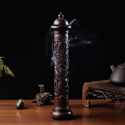 Wooden Dragon Handmade Incense Burner - AwakenZone