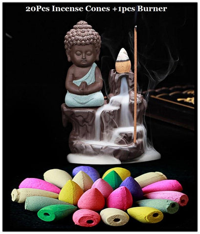 The Little Buddha Incense Burner +20pc Cones - AwakenZone