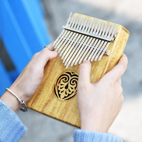 Kalimba 17 keys Solid Wood Thumb Piano - AwakenZone