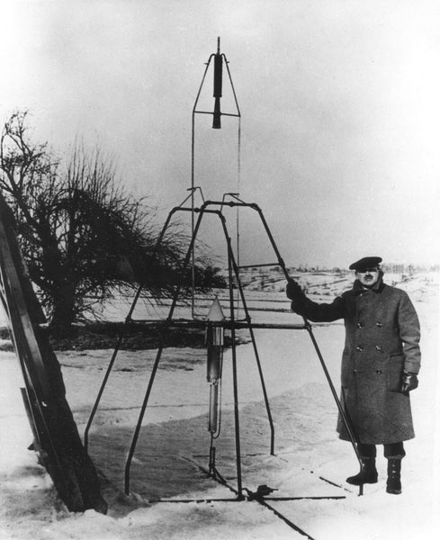 Robert Goddard Launches The First Liquid-Fueled Rocket