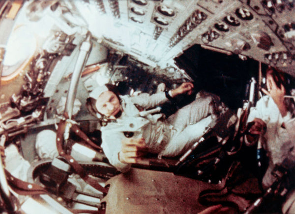 Borman inside the Apollo 8