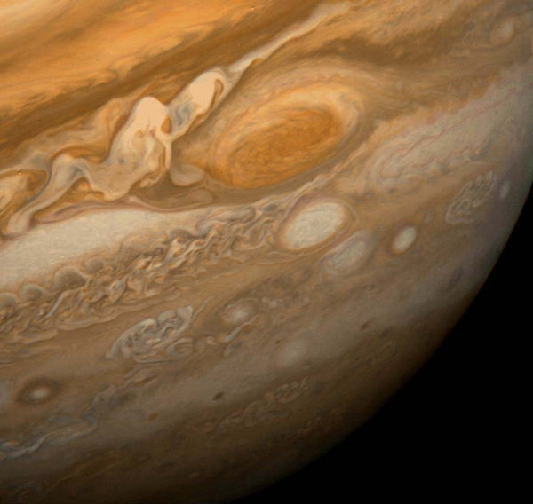 Jupiter Great Red Spot From Voyager 1