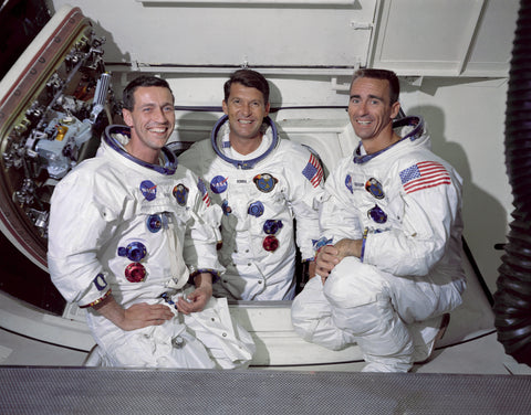 The Apollo 7 crew - Picture by NASA on 22 May 1968