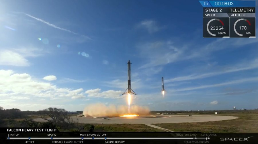 spacex falcon heavy side cores landing