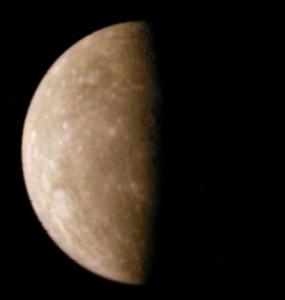 mariner 10 photo of mercury real color