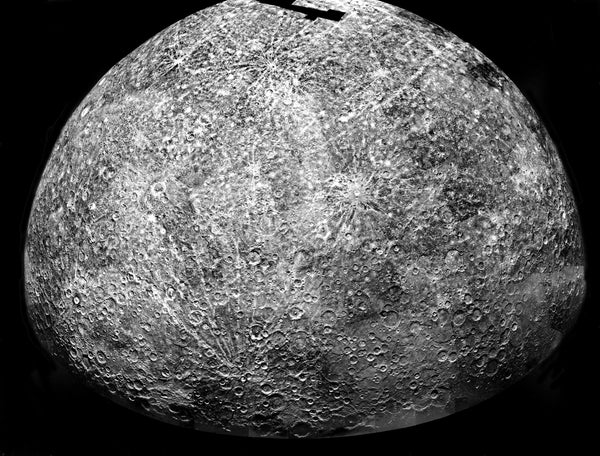mariner 10 photo of mercury south hemisphere
