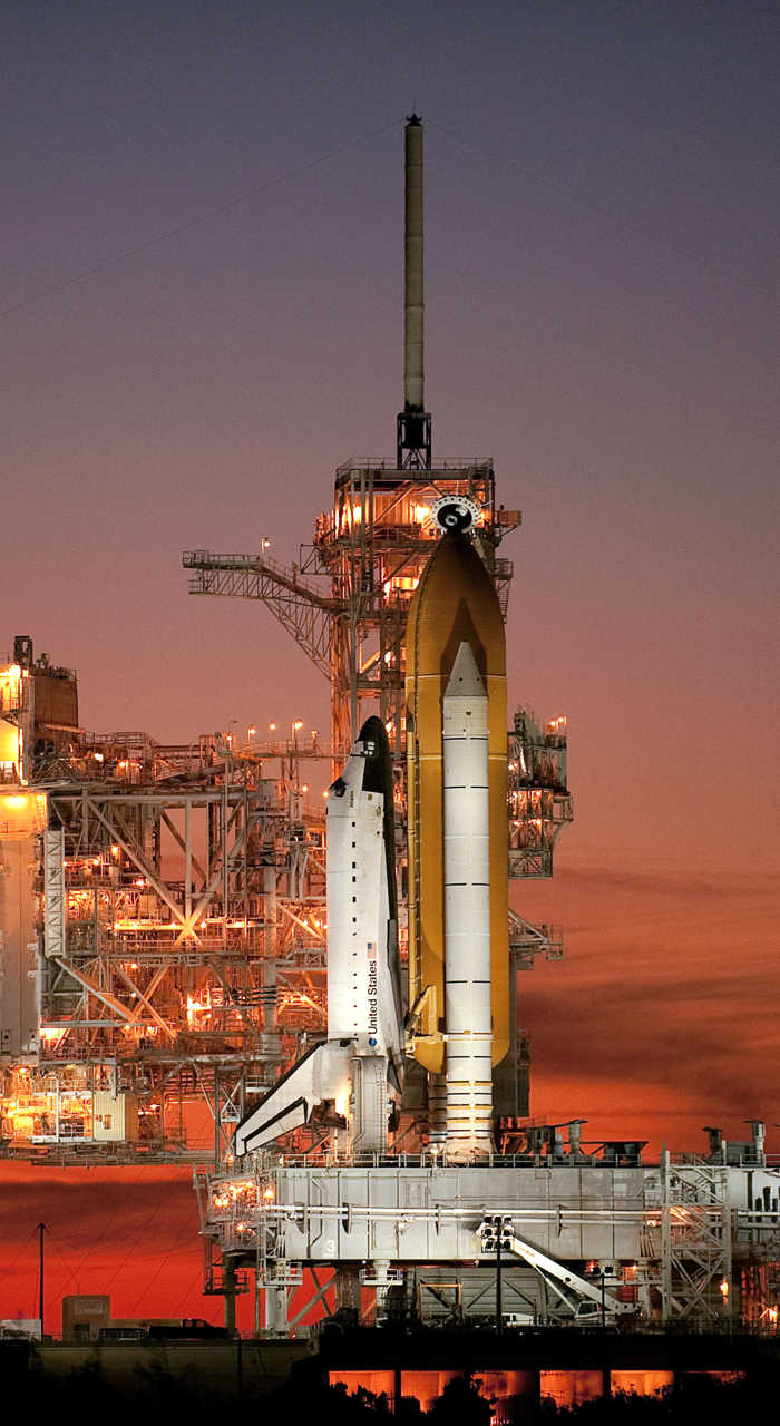 Sts129 Space Shuttle Atlantis Launching Platform Phone Wallpaper Small Step Moon Saturn Ib Dawn
