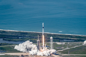 SpaceX Falcon 9 Block 5 Launch Panorama Poster
