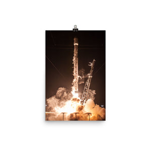 SpaceX Hispasat 30W-6 Launch Poster