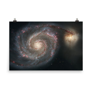 The Whirlpool Galaxy (M51) Poster
