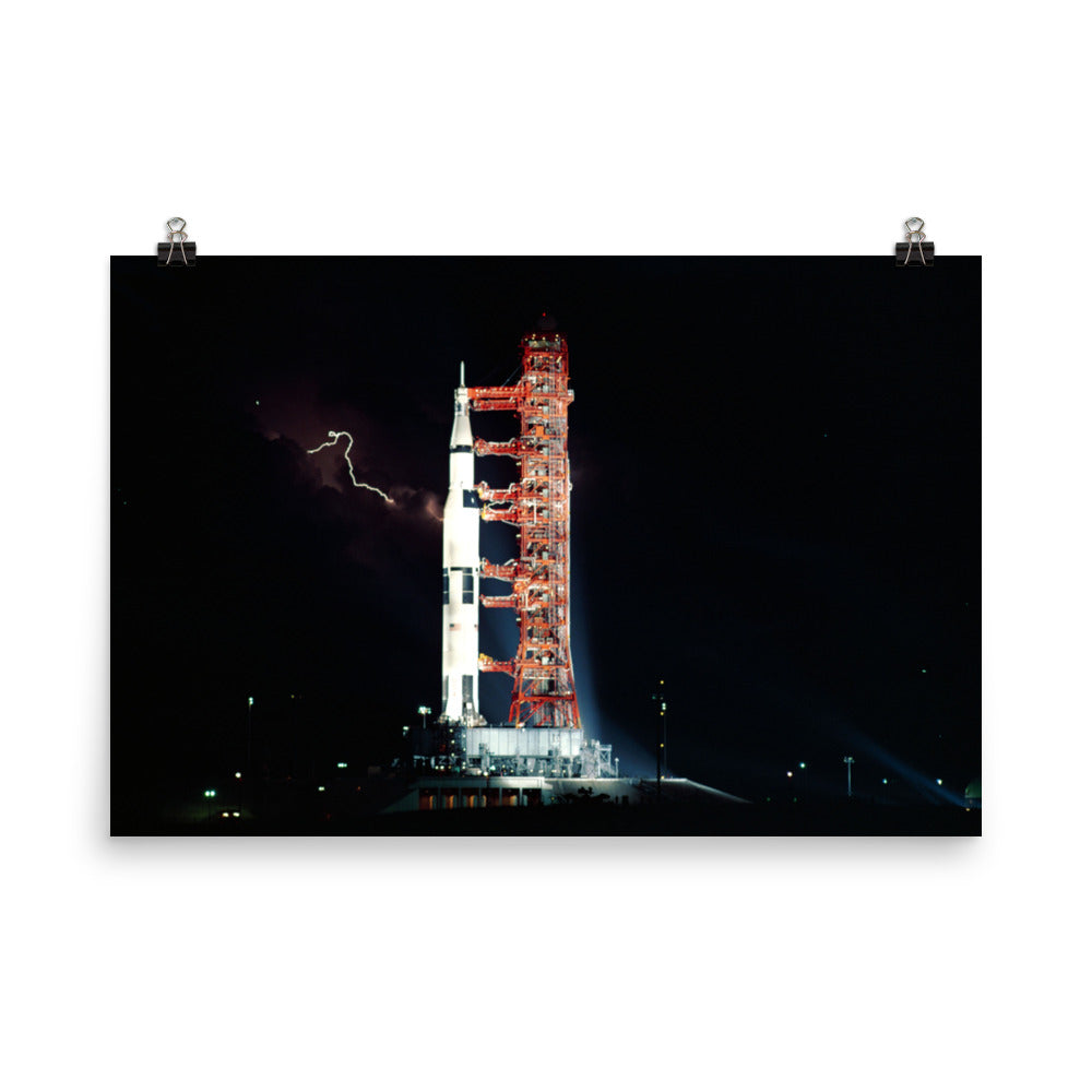 Apollo 15 on the Launch Pad Poster