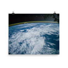 Space Shuttle Atlantis Re-Entry From ISS Poster