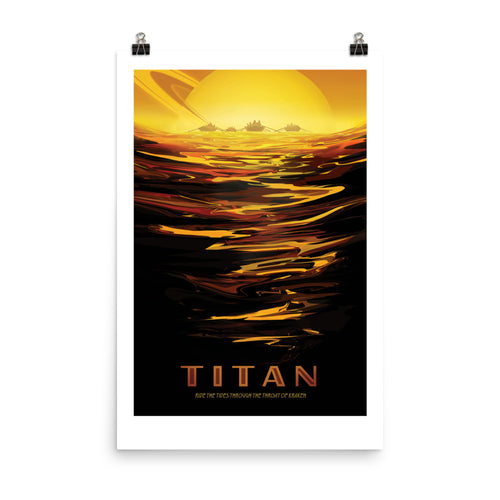 NASA Titan Retro Poster