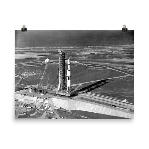 Apollo 11 Saturn V on Transporter Poster