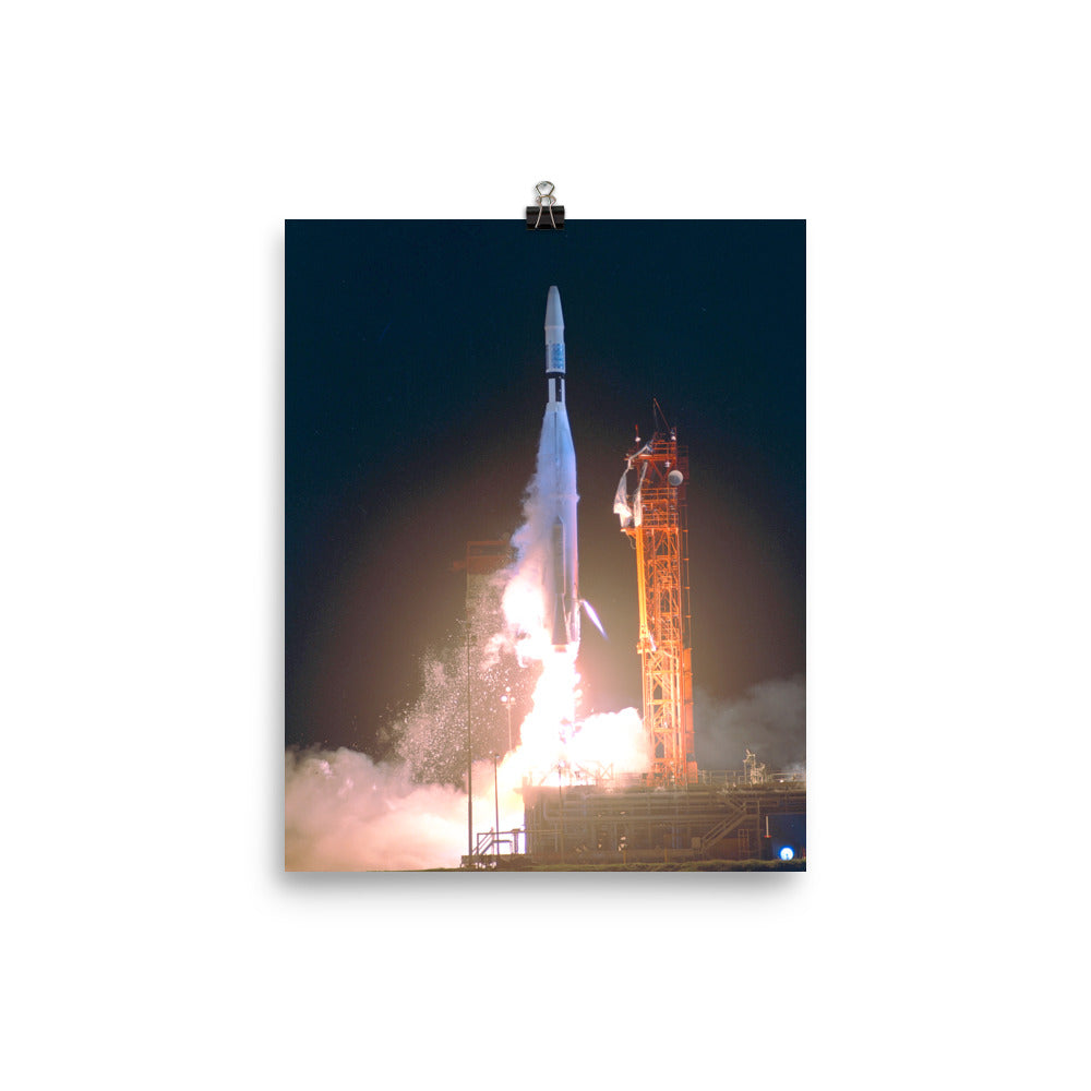 Atlas Agena with Mariner 1 Launch Poster