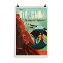 Olympus Mons Retro Travel Poster