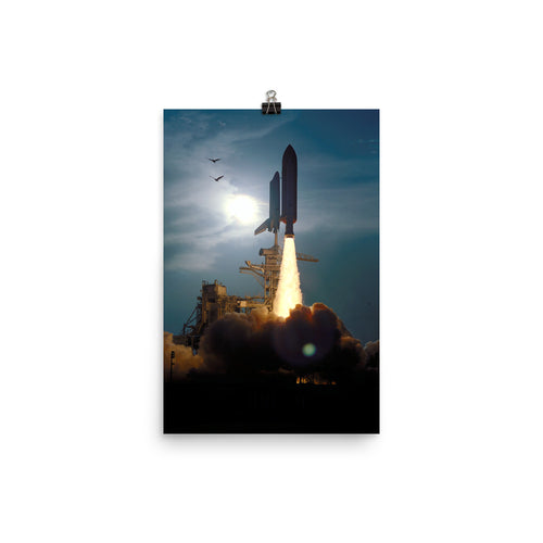 Space Shuttle STS-64 Launch Poster