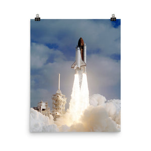 Space Shuttle Discovery STS-31 Liftoff Poster
