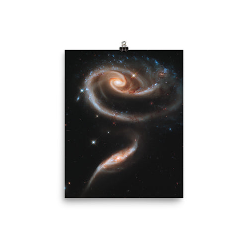 Hubble Rose of Galaxies Poster
