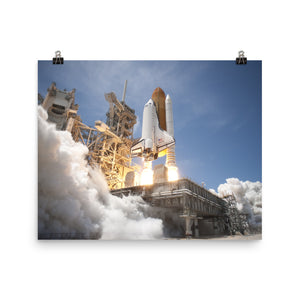 Space Shuttle Atlantis Launch Poster