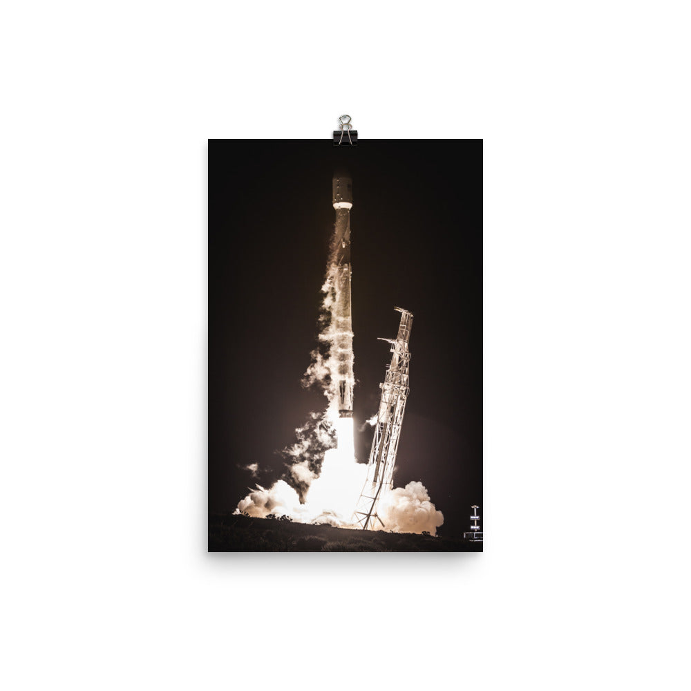 SpaceX PAZ Mission Falcon 9 Liftoff Poster