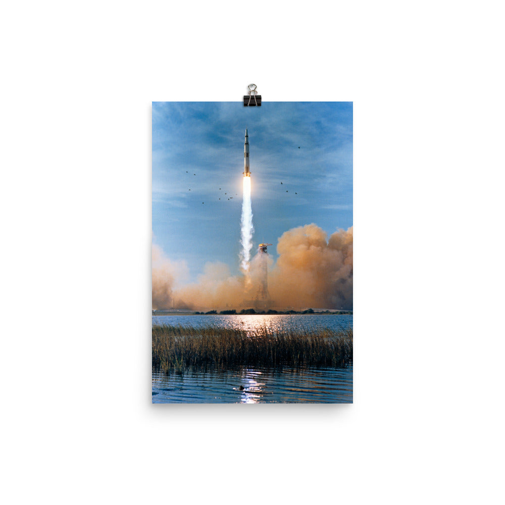 Across The Pond From Apollo 8 Launch Poster