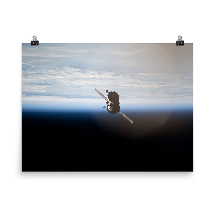 Progress 36 Departs From iSS Poster