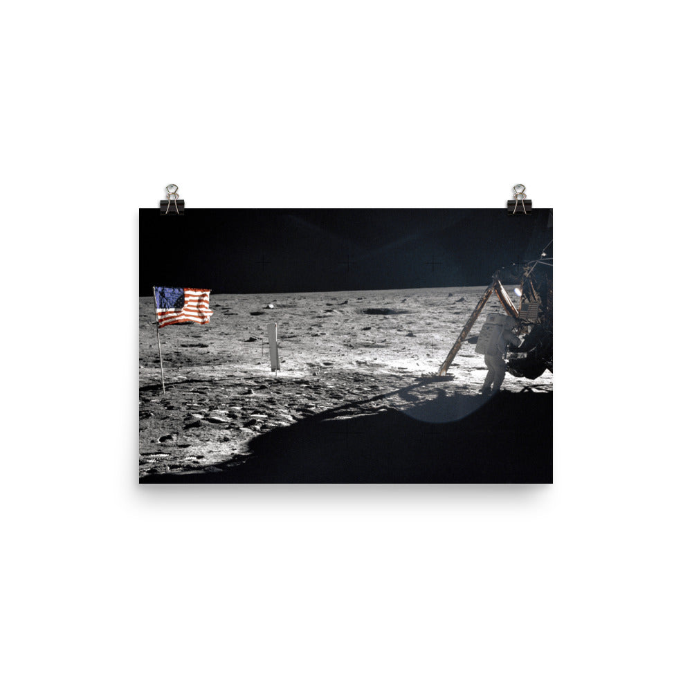 Neil Armstrong On The Moon Poster