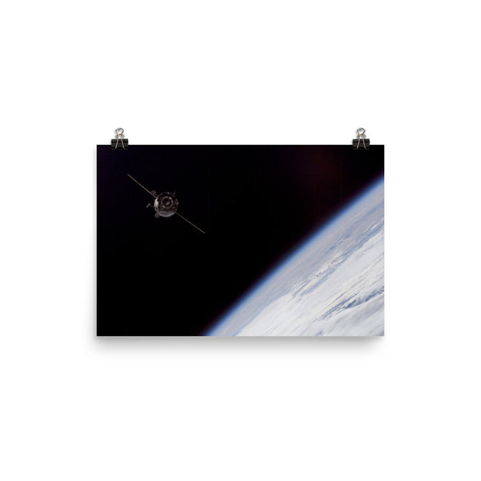 TMA-3 On Its Way To The ISS Poster