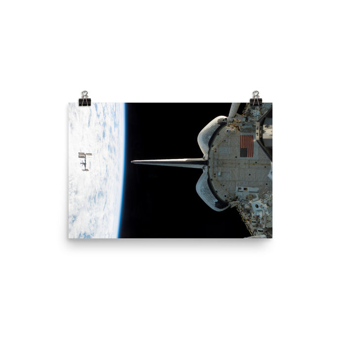 Endeavour Departs ISS Poster