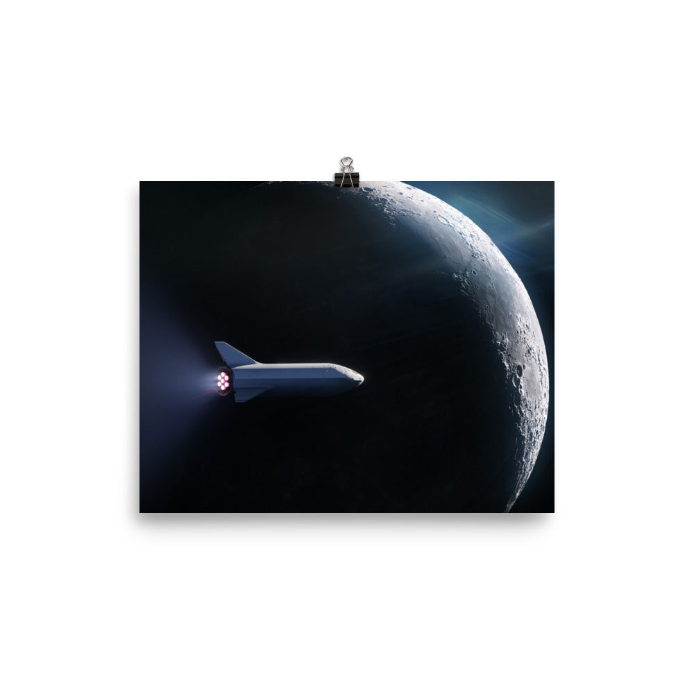 SpaceX BFS Moon Poster