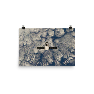 SpaceX CRS-3 Dragon approaches ISS Poster