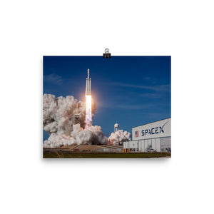 SpaceX Falcon Heavy Test Flight Launch Poster