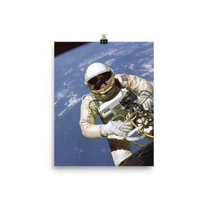 First American Spacewalk Poster