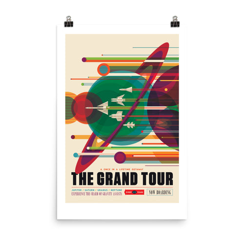 NASA Grand Tour Retro Poster