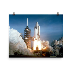 Space Shuttle Columbia Launch Poster