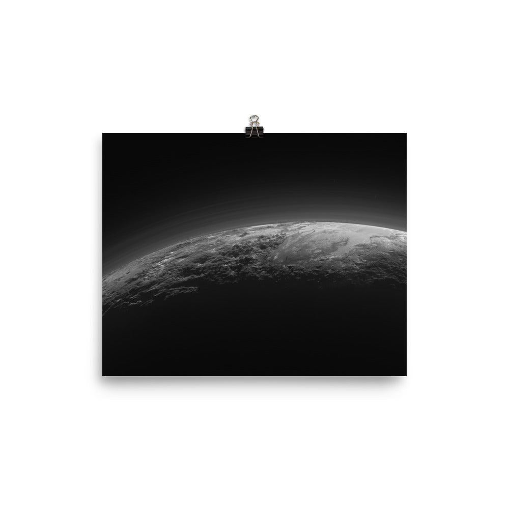 Pluto at Twilight Poster