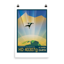 NASA HD 40307g Retro Poster