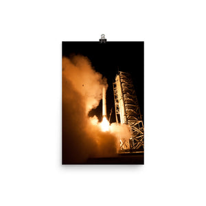 LADEE Launch with Rocket Frog Poster