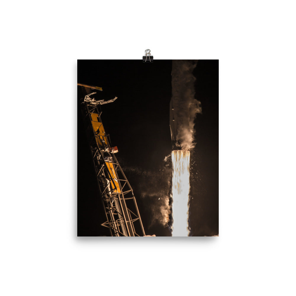 SpaceX Hispasat 30W-6 Closeup Launch Poster